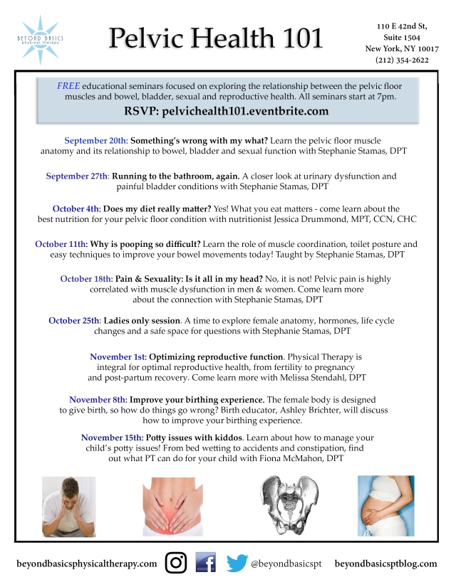 Pelvic Health 101 Fall 2017